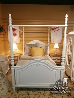 Used Canopy Bed price: $895.00 item #: 129236 ashley canopy bed in a bisque finish
