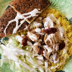 homemade halal cart's chicken and rice with white sauce recipe
