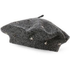 00edc9c6a9e Steve Madden Star Studded Wool Beret ( 15) ❤ liked on Polyvore featuring  accessories