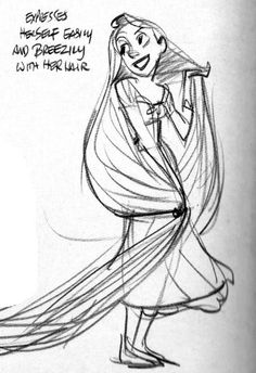 78 best sketches images disney drawings drawings disney princesses Elsa's Girlfriend in Frozen rapunzel study by glen keane disney concept art disney art