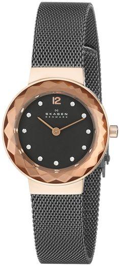 Skagen Women's 456SRM Leonora Analog Display Analog Quartz Grey Watch