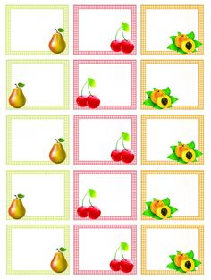 il mio angolo creativo: Etichette marmellate stampabili Binder Labels, Printable Labels, Printables, Family Planner, Canning Labels, Circle Labels, Grid Design, Food Illustrations, Paper Cards