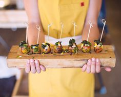 layered baby beet skewers | HeirloomLA