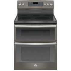 $1259.00 GE, 6.6 cu. ft. Double Oven Electric Range with Self-Cleaning Convection Oven (Lower Oven Only) in Stainless Steel, JB860SJSS at The Home Depot - Mobile