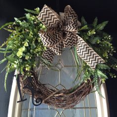 all season grapevine wreath with greenery by angiespictureframes