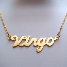 Gold Virgo Horoscope Necklace