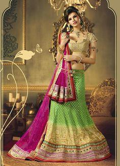 Banarasi Georgette Gorgeous A-Line Lehenga Choli  ||  PRODUCT CODE :- 6143  PRICE:-  14245