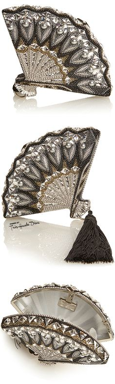 Judith Leiber Fall 2015 Collection ♔ Fan Interlude Clutch— Très Haute Diva