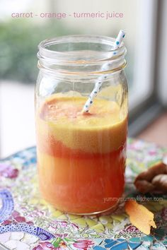 Need a little detox? Try carrot, orange, turmeric juice. #healthy juicer recipe