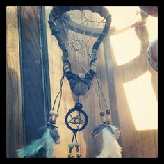 Lacrosse stick dream catcher.... I would die for one of these...