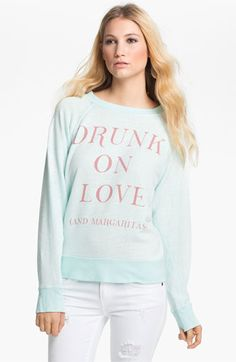 Wildfox 'Drunk On Love' Graphic Sweatshirt available at #Nordstrom