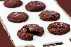salted caramel chocolate cookies via @Ali Ebright (Gimme Some Oven)