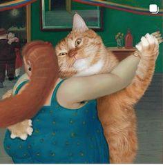 Fat Cat Art, un grosso gatto arancione irrompe nella storia dell'arte - Wired Huge Cat, Cat Steps, Cute Cats Photos, Colors For Dark Skin, Ginger Cats, Fat Cats, Cat Lover, Crazy Cats, Cat Art