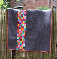 CUSTOM QUILT - Bright Brick Road - Modern Patchwork Quilt Kids Quilt, Baby Quilt, or Crib Quilt. $120.00, via Etsy.