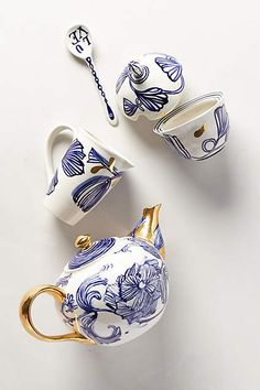 Jardin Des Plantes Tea Set - anthropologie.com