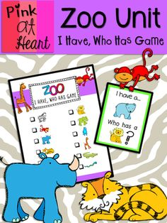 Zoo Unit - I Have, Who Has Game from kac2877 from kac2877 on TeachersNotebook.com (9 pages)  - Fun and easy Zoo Animal game!