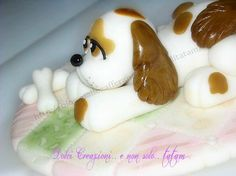 Come fare un cane in pasta di zucchero   tutorial cake topper