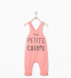 Image 2 of Crossed straps jumpsuit from Zara Toddler Girl Style, Toddler Girl Outfits, Baby Girl Dresses, Baby Dress, Fashion Kids, Baby Girl Fashion, Stylish Baby, Newborn Outfits, Jumpsuit Dress