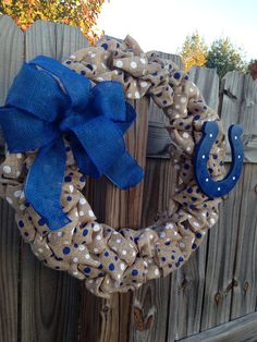 Colts Burlap Wreath on Etsy, $40.00