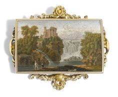 Micro mosaic panel Antonio Aguatti, Rome c 1820-40 (signed Aguatti) photo: Sotheby's
