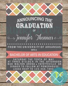 Graduation Announcement Graduation Invitation by TrunkFactory, $13.00