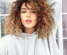 Image result for curly ombre