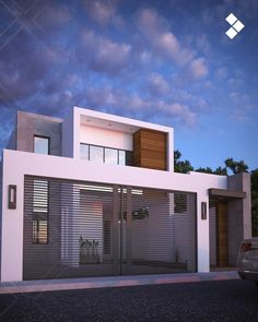 Modern home by cdr constructora modern House Elevation, Facade House, House Front, Simple House, Modern House Design, Style At Home, Home Deco, Modern Architecture, Building A House