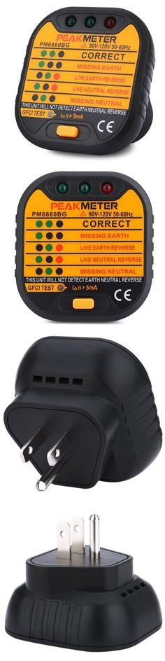 PEAKMETER PM6860BG US Plug 90V - 120V Socket Tester