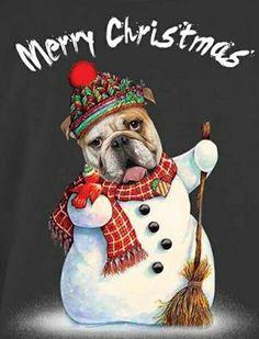Snowman Pug
