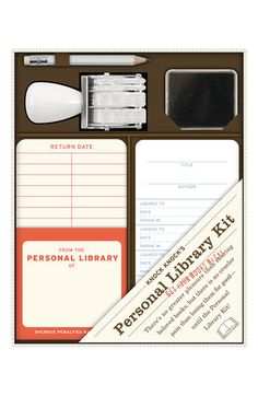 The perfect gift for #book lovers :: Knock Knock Personal Library Kit from #Nordstrom