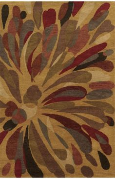 Rizzy Home Bradberry Downs x Hand-Tufted Premium Blended Wool Rug in Gold, Rectangle Shape Tapete Floral, Floral Rug, Dark Beige, Brown And Grey, Transitional Rugs, Rectangle Shape, Accent Rugs, Online Home Decor Stores, Online Shopping
