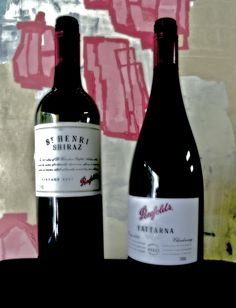 Oh yum, some great Penfolds wines from the Barossa Valley. Wines, Red Wine, Alcoholic Drinks, Bottle, Glass, Vintage, Drinkware, Alcoholic Beverages, Flask