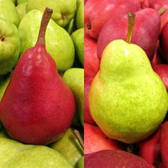 Red & Green pears ☺ #vegan #fruits #pears #fruitarian #raw #plantbased…