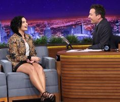 Demi Lovato on The Tonight Show with Jimmy Fallon in Los Angeles - February 19th