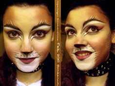 A Copenhagen Sillabub/Jemima makeup this time. What is with me and this producti… Diesmal ein Copenhagen Sillabub / Jemima Make-up. Lion Makeup, Animal Makeup, Cat Makeup, Makeup Art, Army Makeup, Makeup Ideas, Maquillage Halloween, Halloween Face Makeup, Halloween Cat
