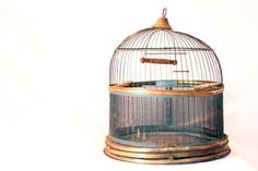 Antique Bird Cage Vintage Hendryx Bird Cage by VintageJestCafe