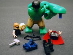 Lego Avengers assemble!  Hulk, Thor, Hawkeye