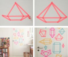 Easy masking tape decor tutorial from Objects & Use
