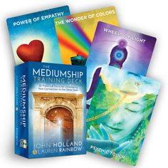 Renowned psychic mediums offer 50 beautifully illustrated cards for readers todevelop their mediumship abilities.    The Mediumship Training Deck features 50 beautifully designed cards created bypsychic mediums John Holland and Lauren Rainbow to assist you in thedevelopment and the unfoldment of your psychic-mediumship potential. When youunderstand the mechanics of how your specific mediumship works, you thenbecome the master of it!  This extraordinary and educational deck benefits everyone… Latest Books, New Books, Opening Prayer, Tarot Card Decks, Tarot Cards, Dealing With Grief, Stages Of Grief, Psychic Mediums, Spiritual Development
