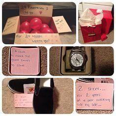 Two Year Anniversary Surprise For My Boyfriend SurprisegiftsForHim 2 Gifts Him