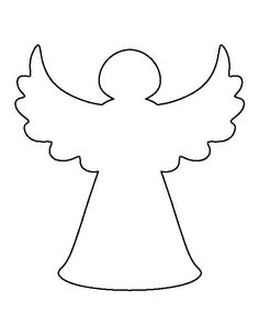 A te gabarit - Sophia We Angel Crafts, Christmas Projects, Felt Crafts, Holiday Crafts, Diy And Crafts, Paper Crafts, Christmas Ideas, Christmas Stencils, Christmas Templates