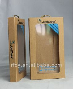 Hot selling kraft paper white box iphone case package with clear window