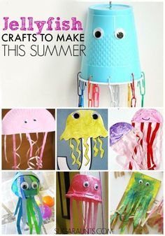 Cute jellyfish crafts for kids                                                                                                                                                     More