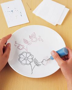 How-To Dot-Painted China