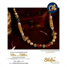Gold Bangles Design, Gold Earrings Designs, Gold Jewellery Design, Gold Jewelry, Beaded Jewelry, Kundan Jewellery Set, Diamond Jewellery, Gold Mangalsutra Designs, Gold Necklace Simple