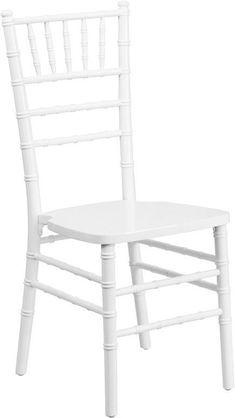 Flash Furniture XS-WHITE-GG Flash Elegance White Wood Chiavari Chair