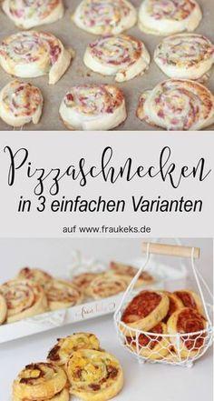 Steht ihr auch so sehr auf Ruck Zuck Rezepte wie ich? Die Pizzaschnecken sind schnell gemacht und ich stell euch auf dem Blog 3 Varianten für leckere Füllungen vor.