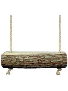 Log Swing- fun option instead of porch swings, you could do 2 of these and kids might like