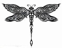 Tribal Spiral Dragonfly