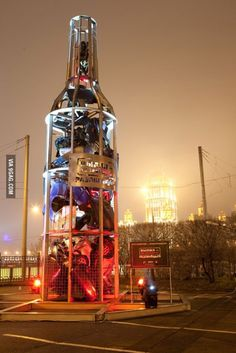 Monument against drunk driving in Moscow